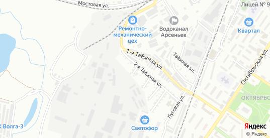 Луговой переулок в Арсеньеве с номерами домов на карте. Спутник и схема онлайн