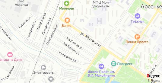 Проезд Жуковского в Арсеньеве с номерами домов на карте. Спутник и схема онлайн