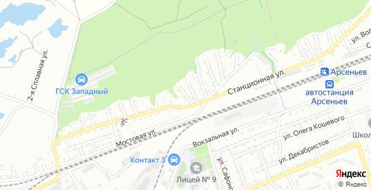 Переулок Рябова в Арсеньеве с номерами домов на карте. Спутник и схема онлайн