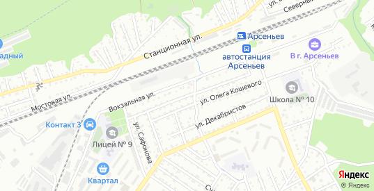 Уссурийская улица в Арсеньеве с номерами домов на карте. Спутник и схема онлайн