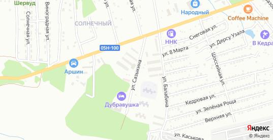 Улица Сазыкина в Арсеньеве с номерами домов на карте. Спутник и схема онлайн