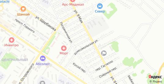 Переулок Хабарова в Арсеньеве с номерами домов на карте. Спутник и схема онлайн