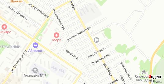 Переулок Дзержинского в Арсеньеве с номерами домов на карте. Спутник и схема онлайн