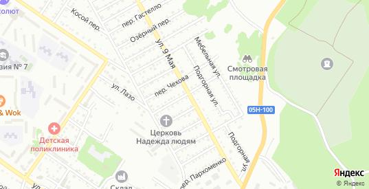 Вишневый переулок в Арсеньеве с номерами домов на карте. Спутник и схема онлайн