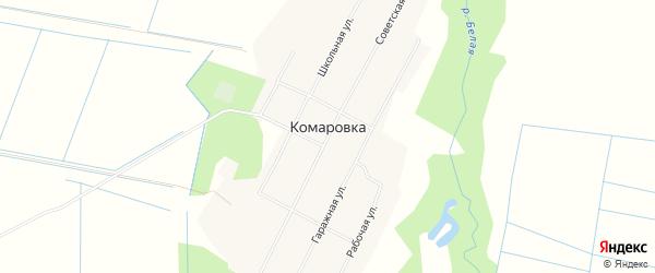 Карта села Комаровки в Приморском крае с улицами и номерами домов