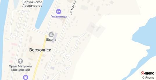 Комсомольская улица в Верхоянске с номерами домов на карте. Спутник и схема онлайн