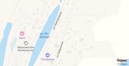Улица Бабушкина в Верхоянске с номерами домов на карте. Спутник и схема онлайн