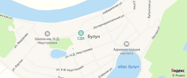 Карта села Булуна в Якутии с улицами и номерами домов