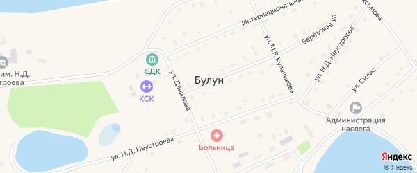 Улица Силис на карте села Булуна Якутии с номерами домов