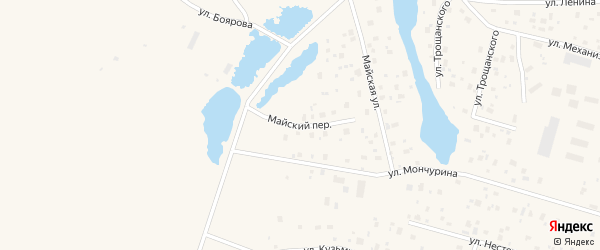 Майский переулок на карте села Ытык-Кюель Якутии с номерами домов