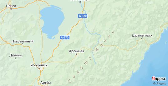Карта Яковлевского района Приморского края с городами и населенными пунктами