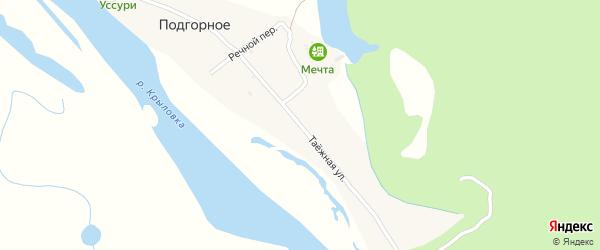 Таежная улица на карте Подгорного села Приморского края с номерами домов