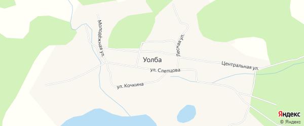 Карта села Уолбы в Якутии с улицами и номерами домов
