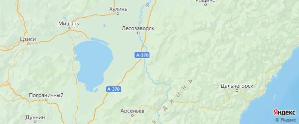 Карта Кировского района Приморского края с городами и населенными пунктами