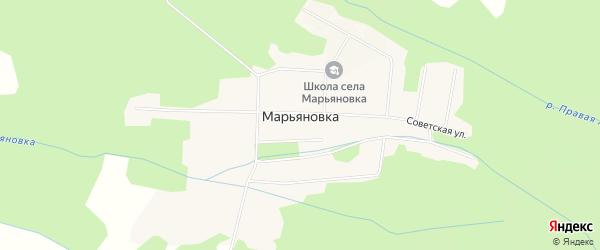 Карта села Марьяновки в Приморском крае с улицами и номерами домов