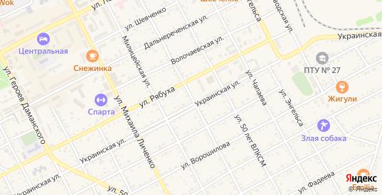 Красногвардейская улица в Дальнереченске с номерами домов на карте. Спутник и схема онлайн