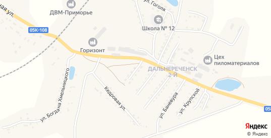 Полярная улица в Дальнереченске с номерами домов на карте. Спутник и схема онлайн