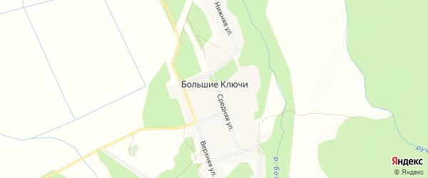 Карта села Большие Ключи в Приморском крае с улицами и номерами домов