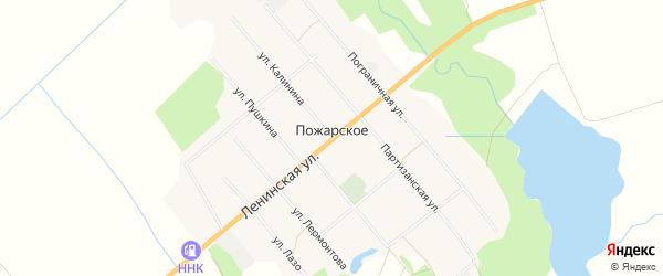 Карта Пожарского села в Приморском крае с улицами и номерами домов