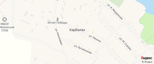 Улица М.Сорова на карте села Харбалаха Якутии с номерами домов
