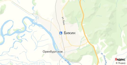 Карта Бикина с улицами и домами подробная. Показать со спутника номера домов онлайн