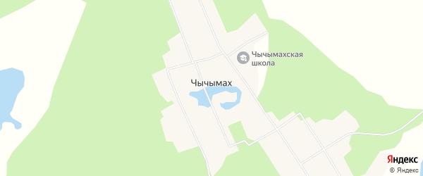 Карта села Чычымаха в Якутии с улицами и номерами домов