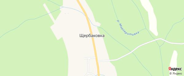 Увальная улица на карте села Щербаковки Приморского края с номерами домов