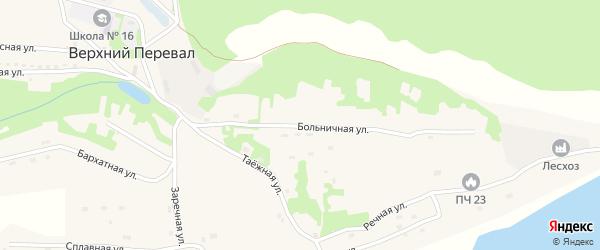 Больничная улица на карте села Верхнего Перевала Приморского края с номерами домов