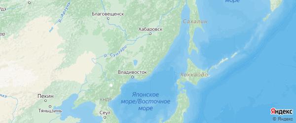Карта Приморского края с городами и районами
