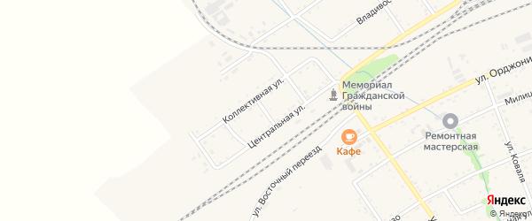 Сельскохозяйственная улица на карте Вяземского с номерами домов