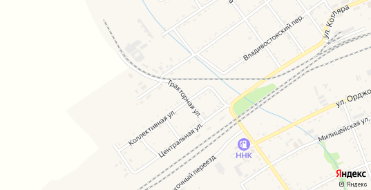 Тракторная улица в Вяземском с номерами домов на карте. Спутник и схема онлайн