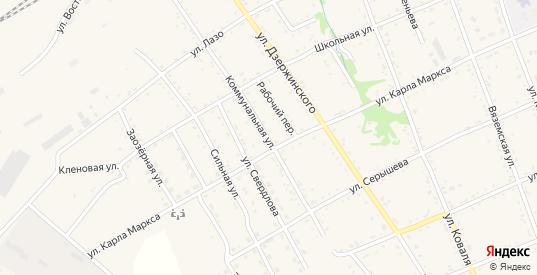 Коммунальная улица в Вяземском с номерами домов на карте. Спутник и схема онлайн