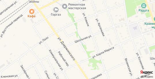 Саперный переулок в Вяземском с номерами домов на карте. Спутник и схема онлайн