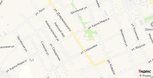 Улица Дзержинского в Вяземском с номерами домов на карте. Спутник и схема онлайн