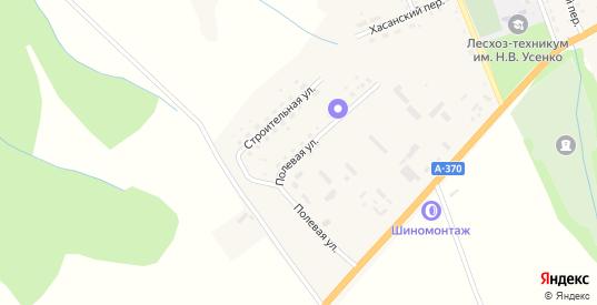 Полевая улица в Вяземском с номерами домов на карте. Спутник и схема онлайн