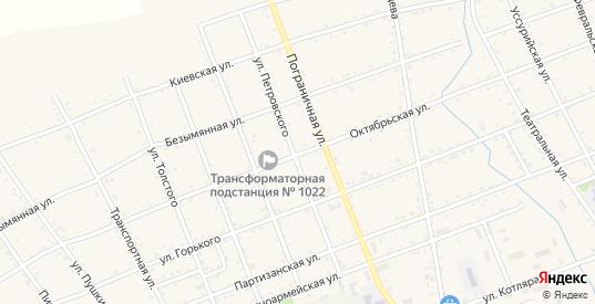 Октябрьская улица в Вяземском с номерами домов на карте. Спутник и схема онлайн