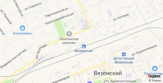 Железнодорожная улица в Вяземском с номерами домов на карте. Спутник и схема онлайн
