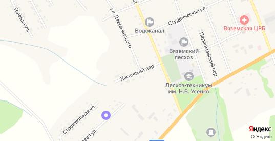 Хасанский переулок в Вяземском с номерами домов на карте. Спутник и схема онлайн