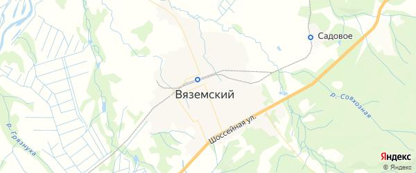 Карта Вяземского с районами, улицами и номерами домов: Вяземский на карте России