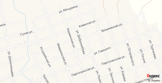 Улица Добролюбова в Вяземском с номерами домов на карте. Спутник и схема онлайн