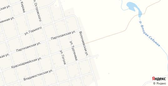Волочаевская улица в Вяземском с номерами домов на карте. Спутник и схема онлайн