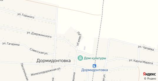 Луговая улица в Вяземском с номерами домов на карте. Спутник и схема онлайн