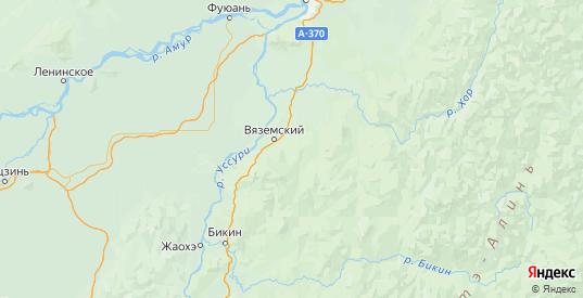 Карта Вяземского района Хабаровского края с городами и населенными пунктами