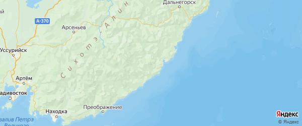 Карта Ольгинского района Приморского края с городами и населенными пунктами