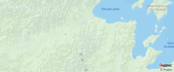 Карта Тугуро-чумиканского района Хабаровского края с городами и населенными пунктами