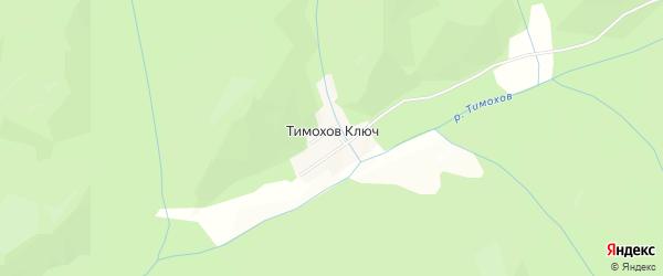 Карта села Тимохова Ключа в Приморском крае с улицами и номерами домов