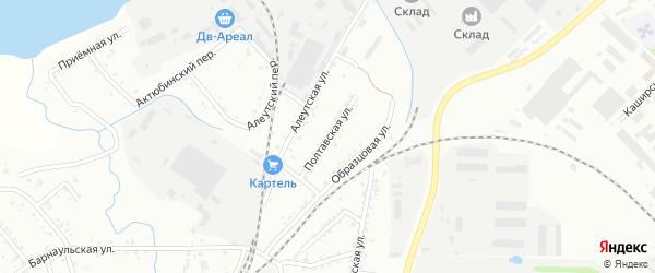 Полтавская улица на карте Хабаровска с номерами домов