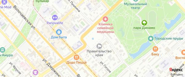 Улица Железнодорожный райисполком-4 на карте садового некоммерческого товарищества сот ЖД РИК с номерами домов