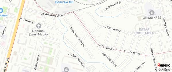 Омская улица на карте Хабаровска с номерами домов