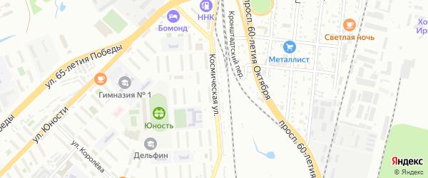 Космическая улица на карте Хабаровска с номерами домов